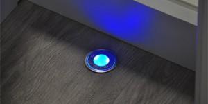 LED-Lampe vom Typ runder Einbaustrahler (Fussboden) in der Holzhandlung Blömer